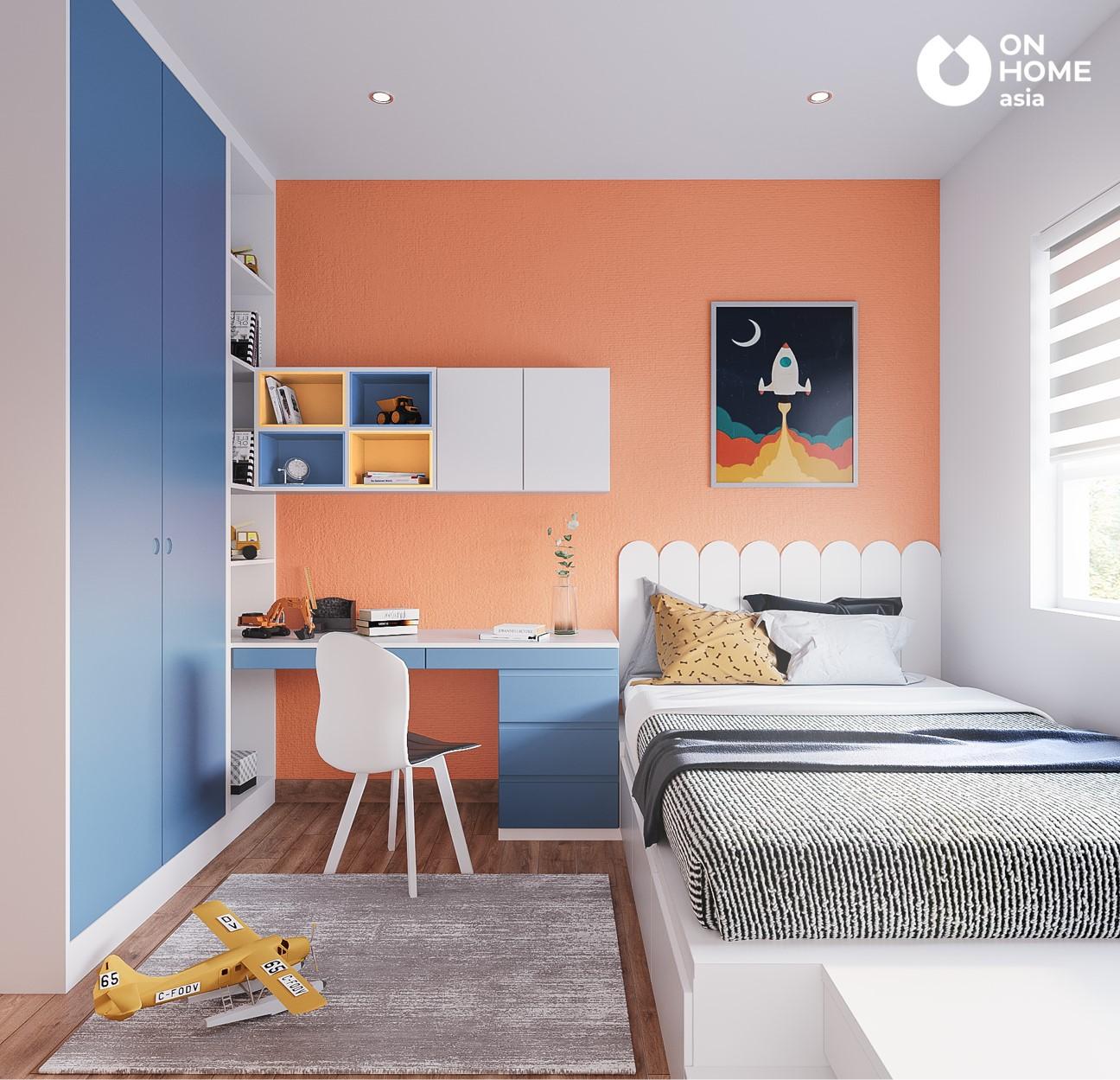 Phòng ngủ bé trai căn hộ 3 phòng ngủ