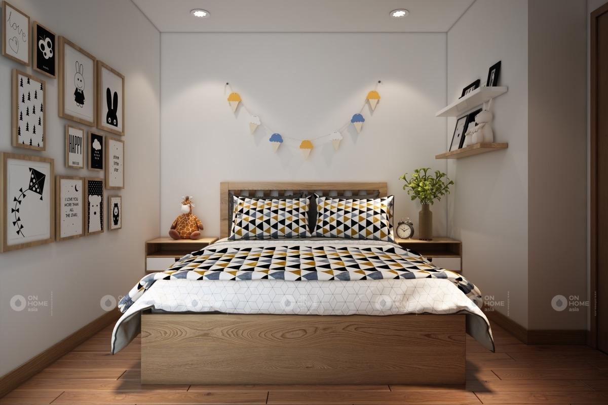 Phòng ngủ kiểu Bắc Âu vừa hiện đại vừa có màu sắc riêng