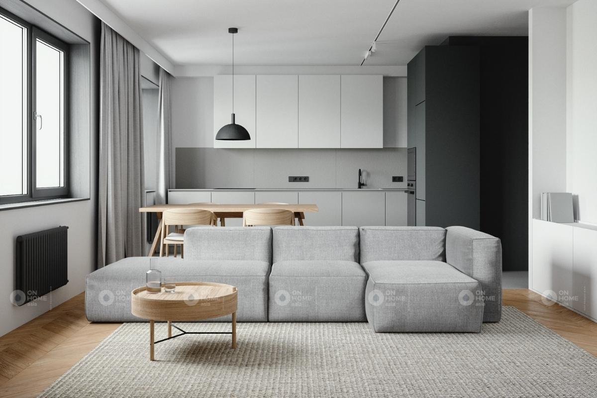Thiết kế nội thất căn hộ phong cách tối giản