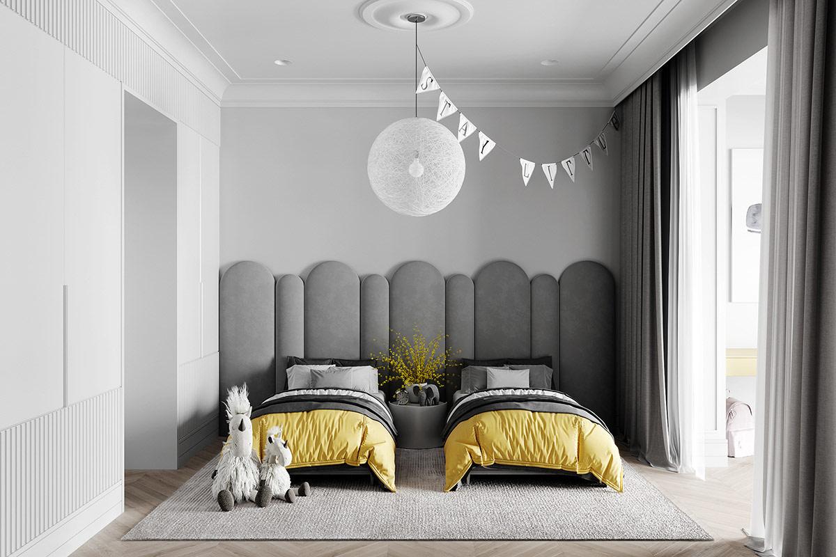 Thiết kế phòng ngủ cho trẻ phong cách tân cổ điển