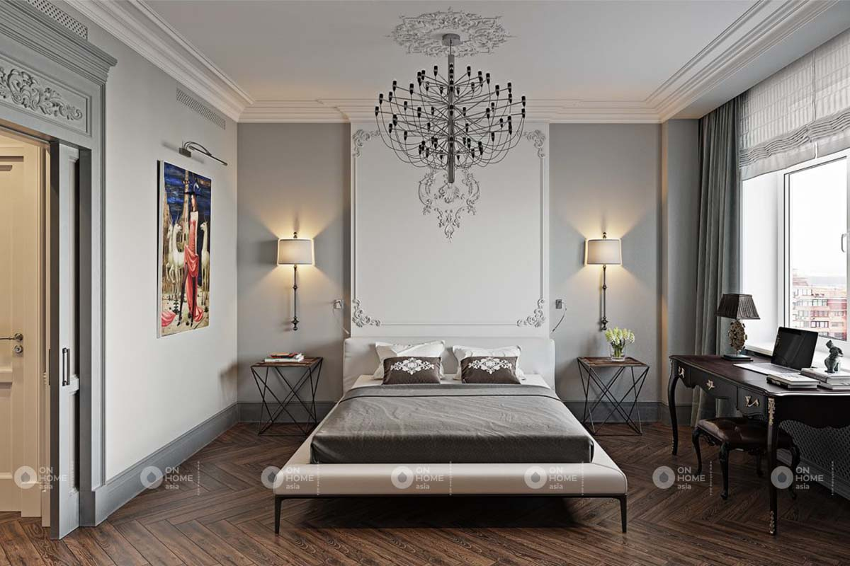 Đèn trần trang trí phòng ngủ đẹp mắt