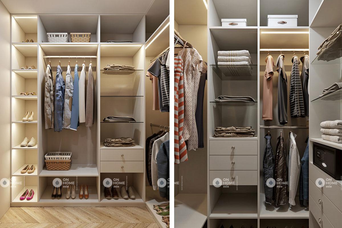 tủ quần áo thiết kế phong cách tân cổ điển
