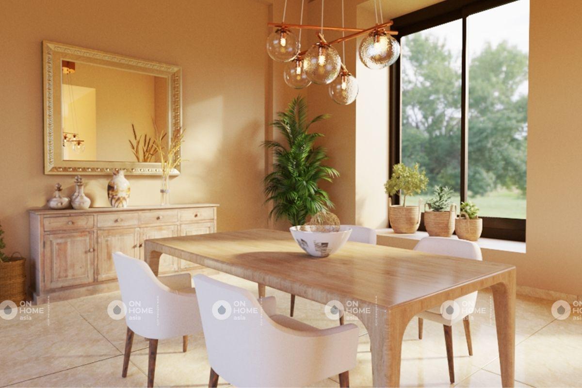 Không gian bếp chung cư 70m2 phong cách tối giản