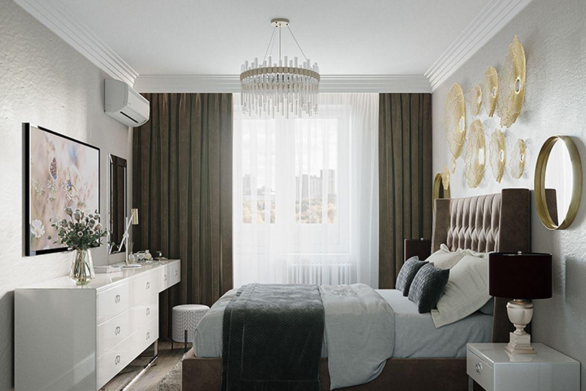 Phòng ngủ chung cư 70m2 thiết kế tân cổ điển