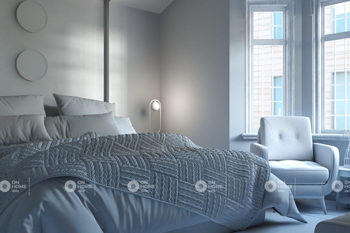 Không gian phòng ngủ hài hòa màu sắc