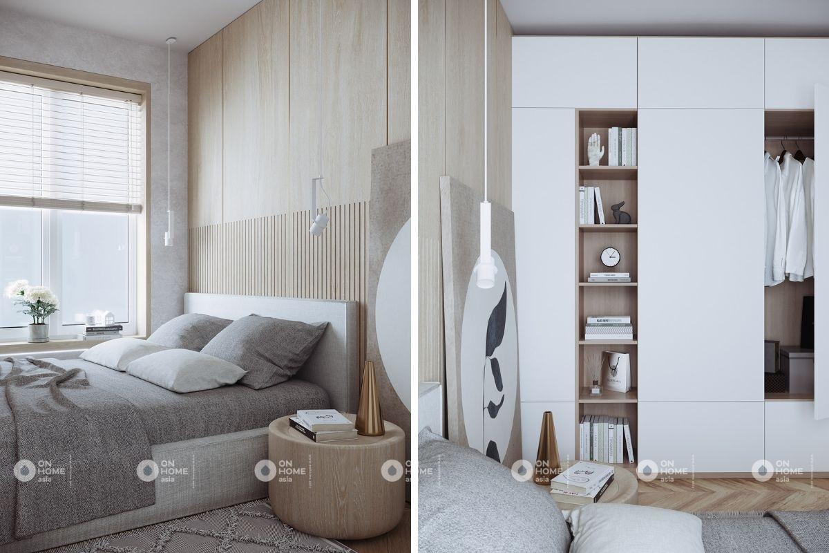 nội thất phòng ngủ căn hộ 1 phòng ngủ