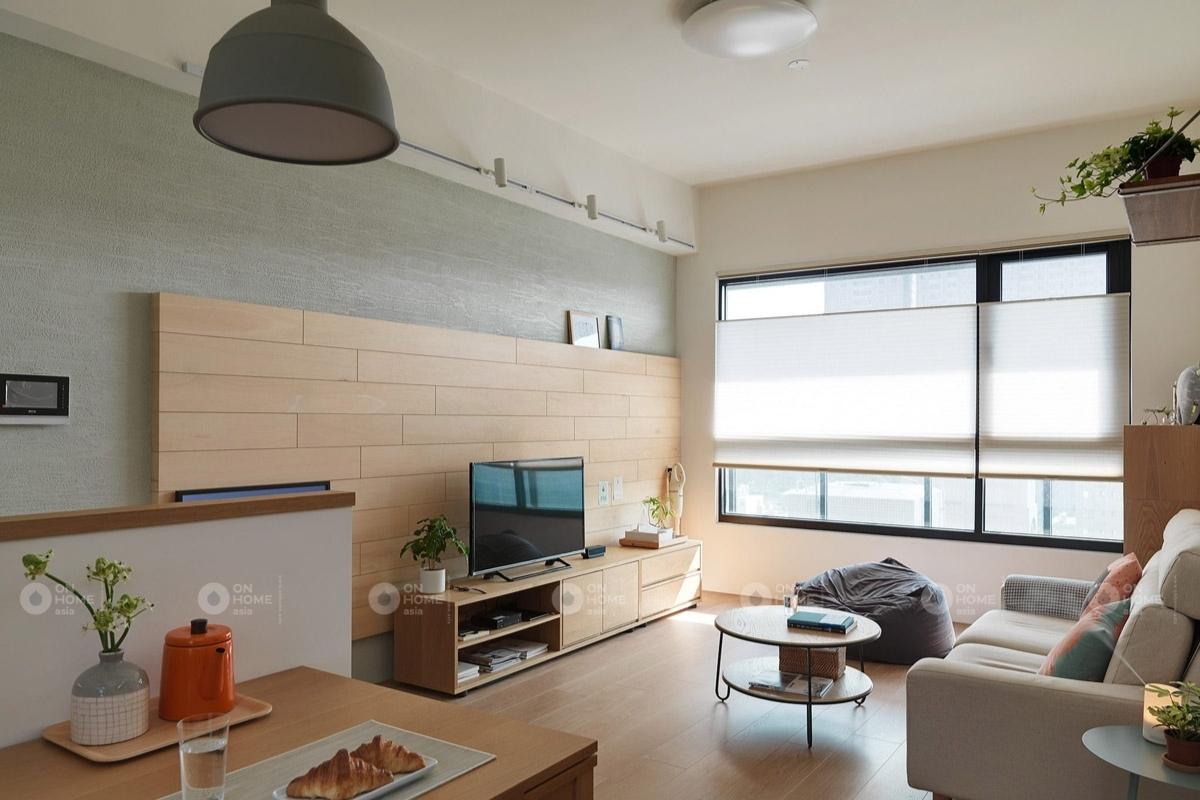 Phòng khách căn hộ phong cách tối giản