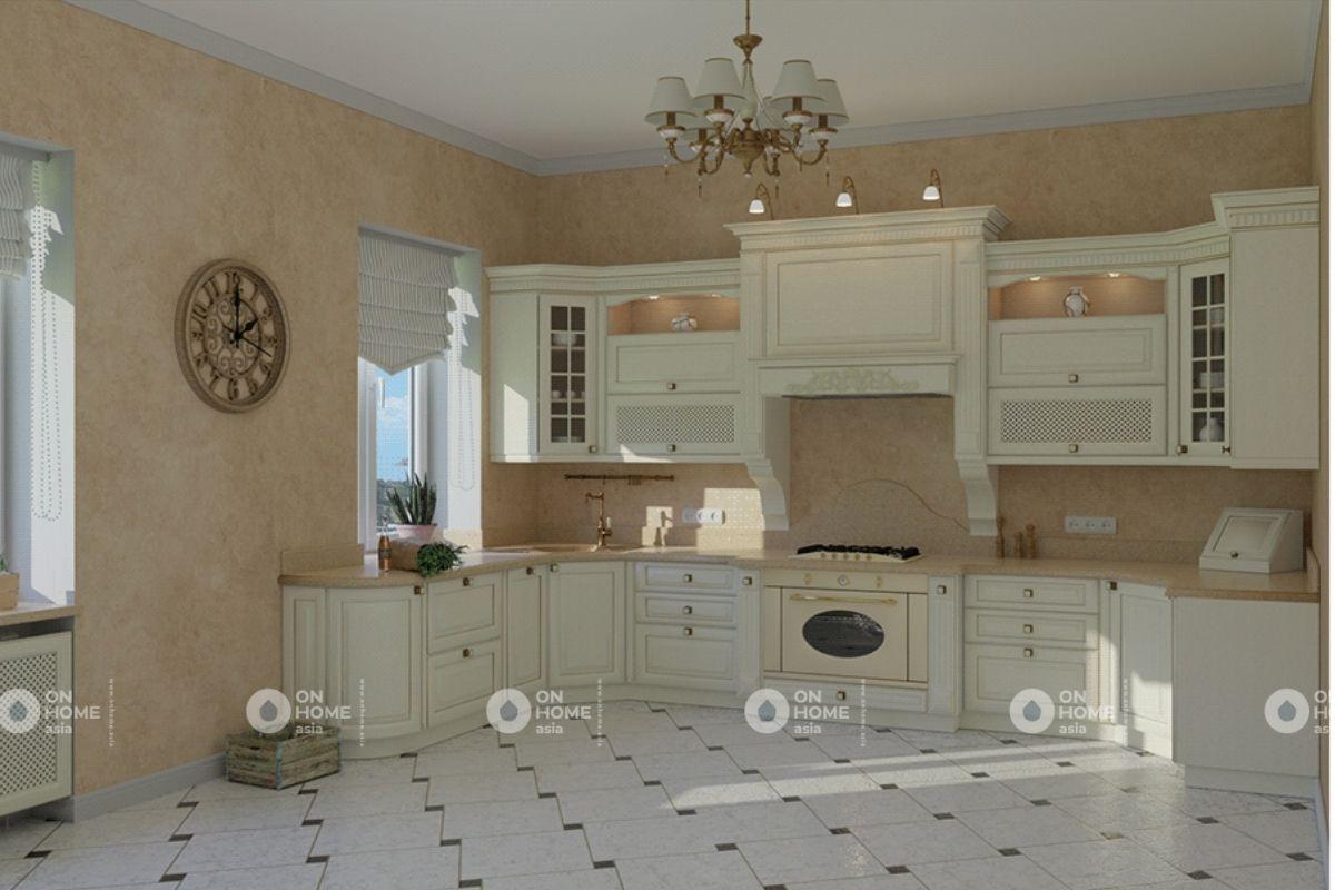 Thiết kế nội thất phòng bếp chung cư 70m2
