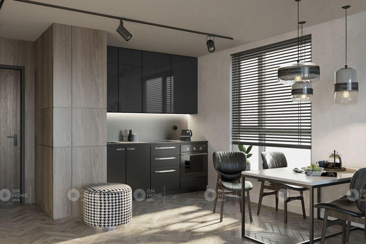Phòng bếp căn hộ chung cư 70m2