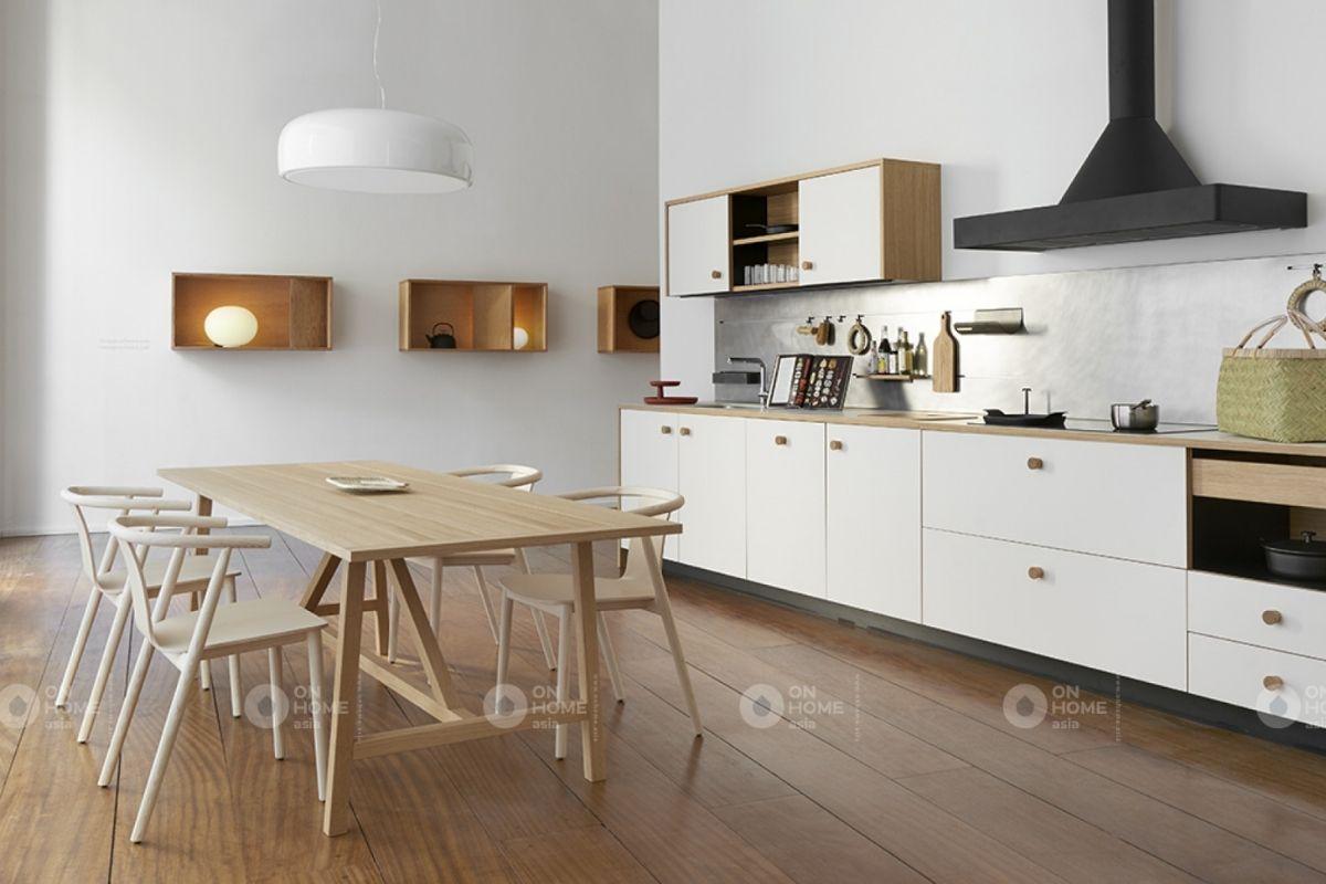 Phòng bếp hiện đại căn hộ 70m2