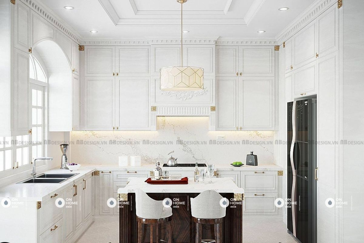 Không gian bếp rộng lớn