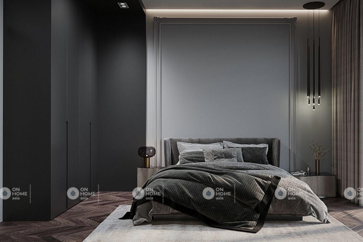 Không gian phòng ngủ chung cư 70m2 hiện đại
