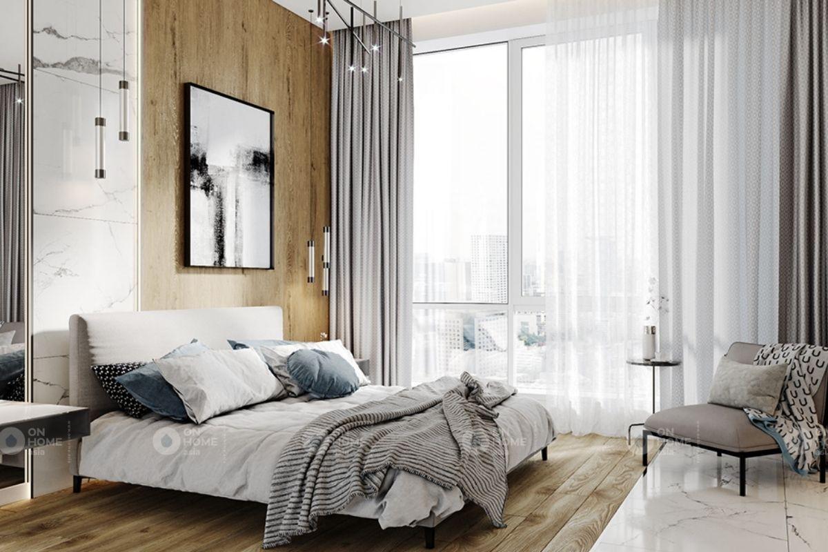 Phòng ngủ hiện đại chung cư 70m2