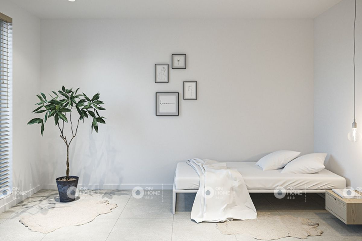 Không gian phòng ngủ theo phong cách tối giản
