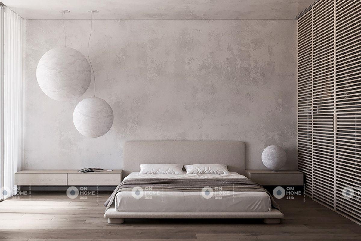Phòng ngủ chung cư 70m2 thiết kế tối giản