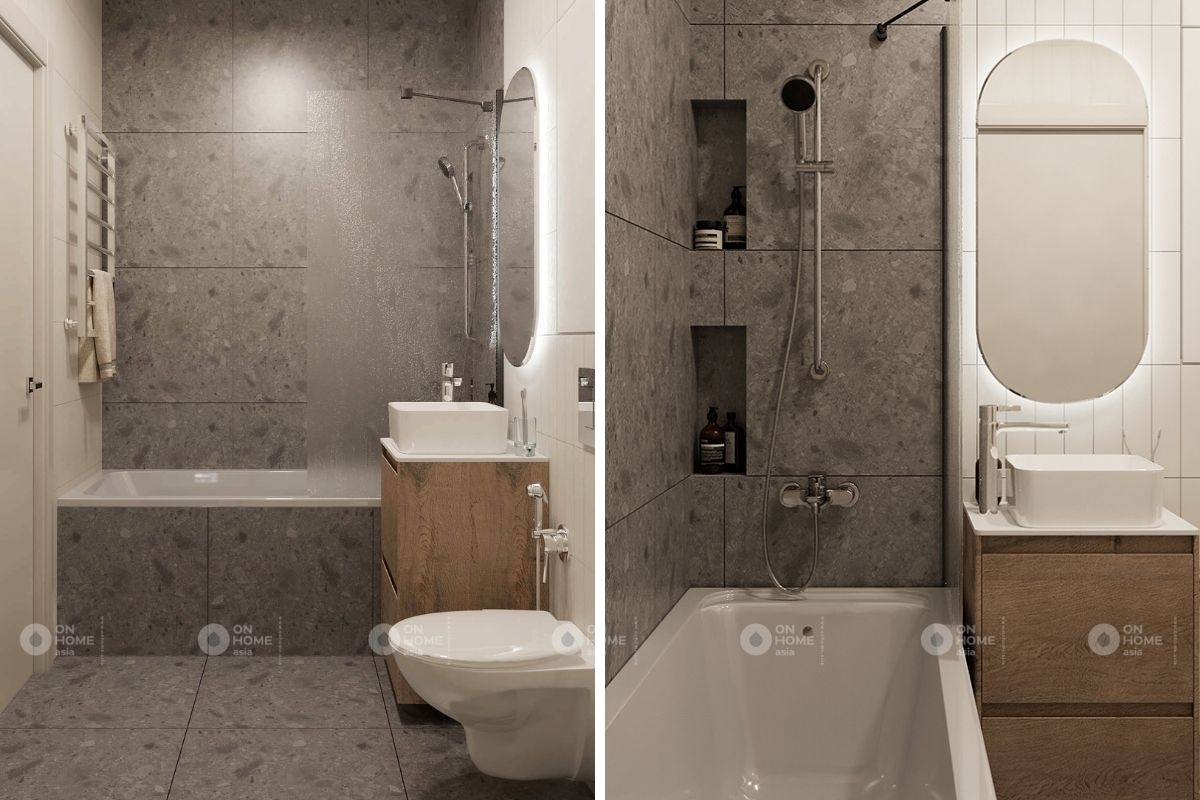Phòng tắm cho căn hộ 45m2