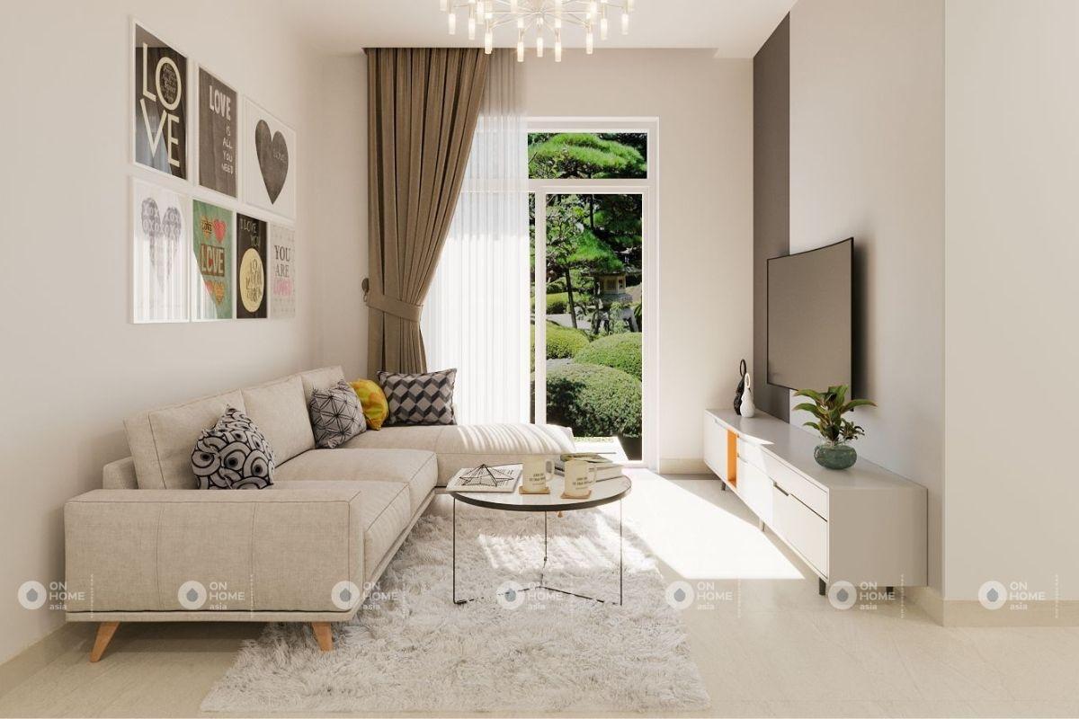 thiết kế nội thất chung cư 45m2 tận dụng ánh sáng tự nhiên