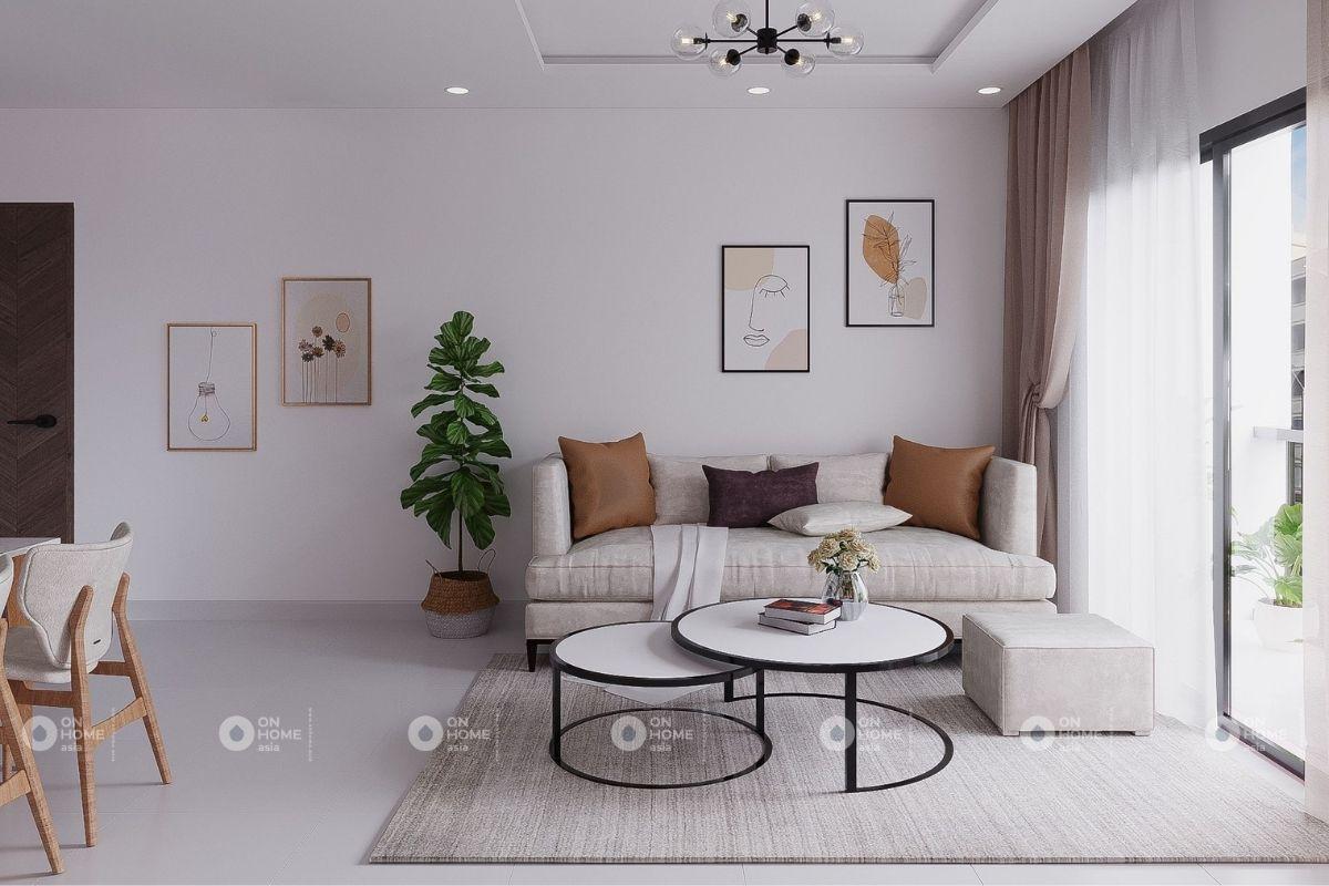 thiết kế nội thất chung cư 45m2 với gam màu tươi sáng