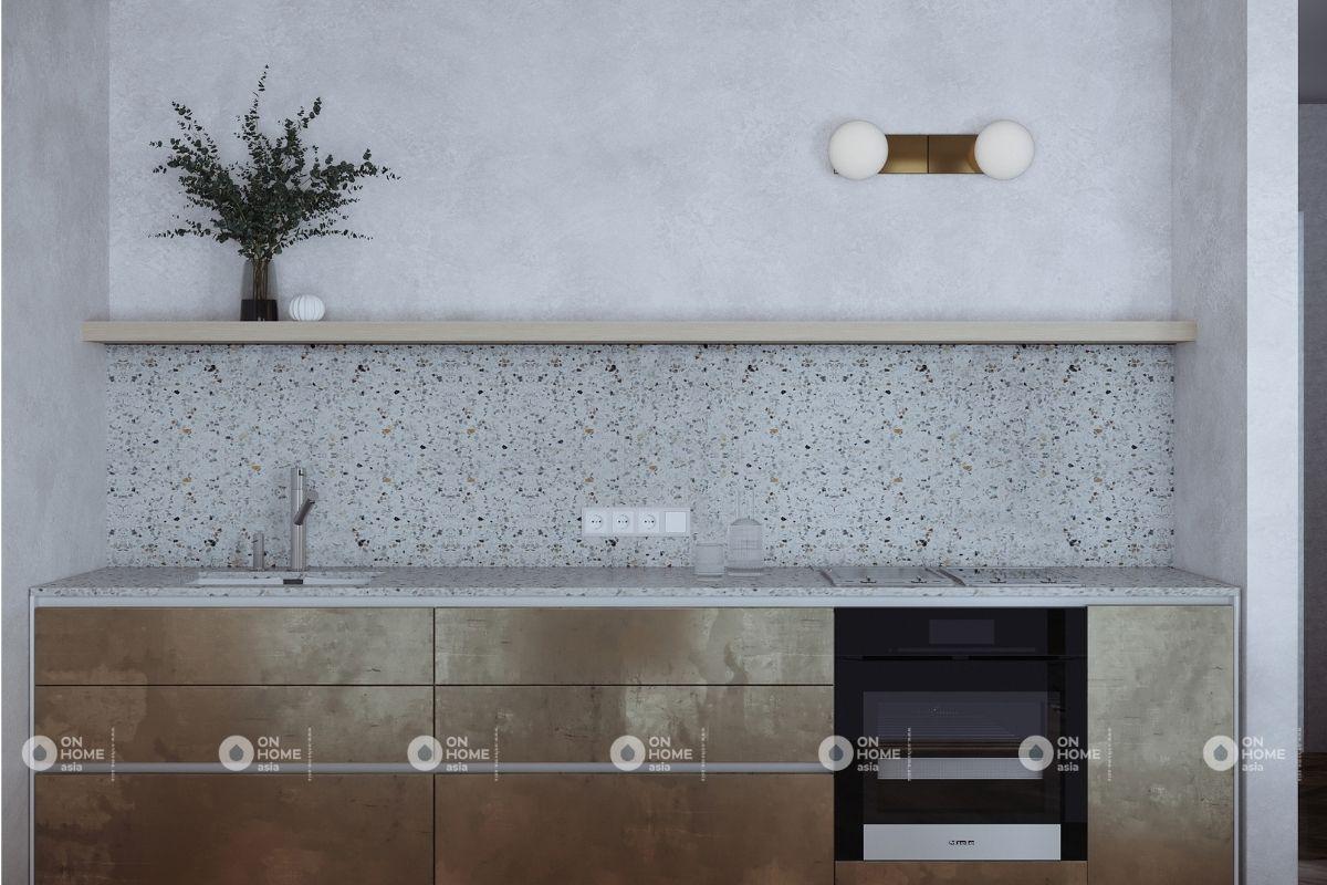 thiết kế nội thất nhà bếp căn hộ 45m2