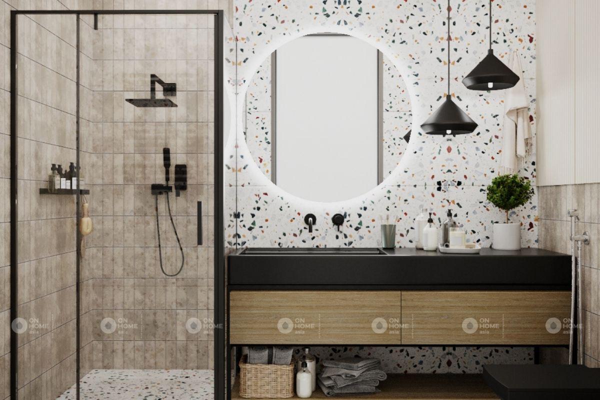 thiết kế nội thất nhà tắm chung cư 45m2