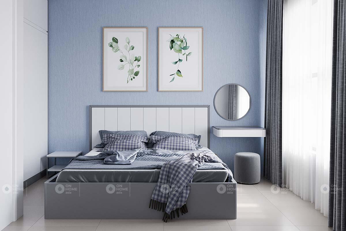 thiết kế nội thất phòng ngủ căn hộ 2 phòng ngủ