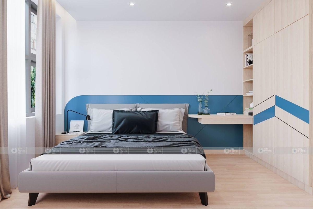 thiết kế nội thất phòng ngủ căn hộ 45m2