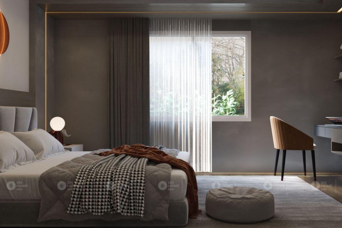 thiết kế nội thất phòng ngủ chung cư 45m2