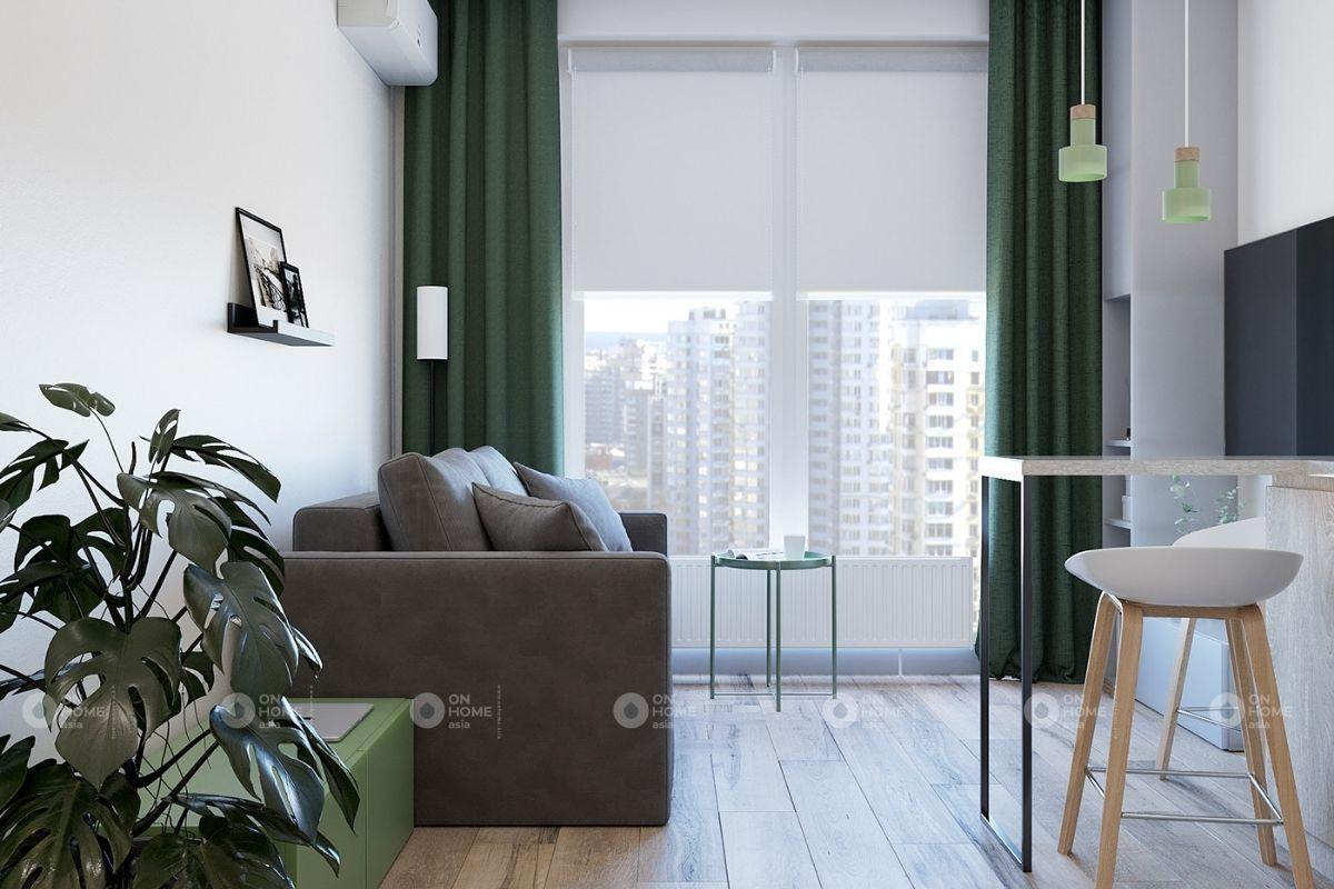 Phòng khách căn hộ sở hữu view cực đẹp