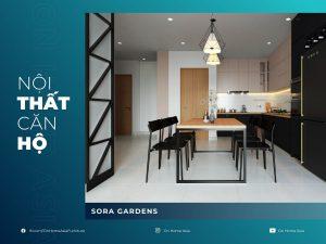 nội thất căn hộ sora gardens 3 phòng ngủ mẫu z9