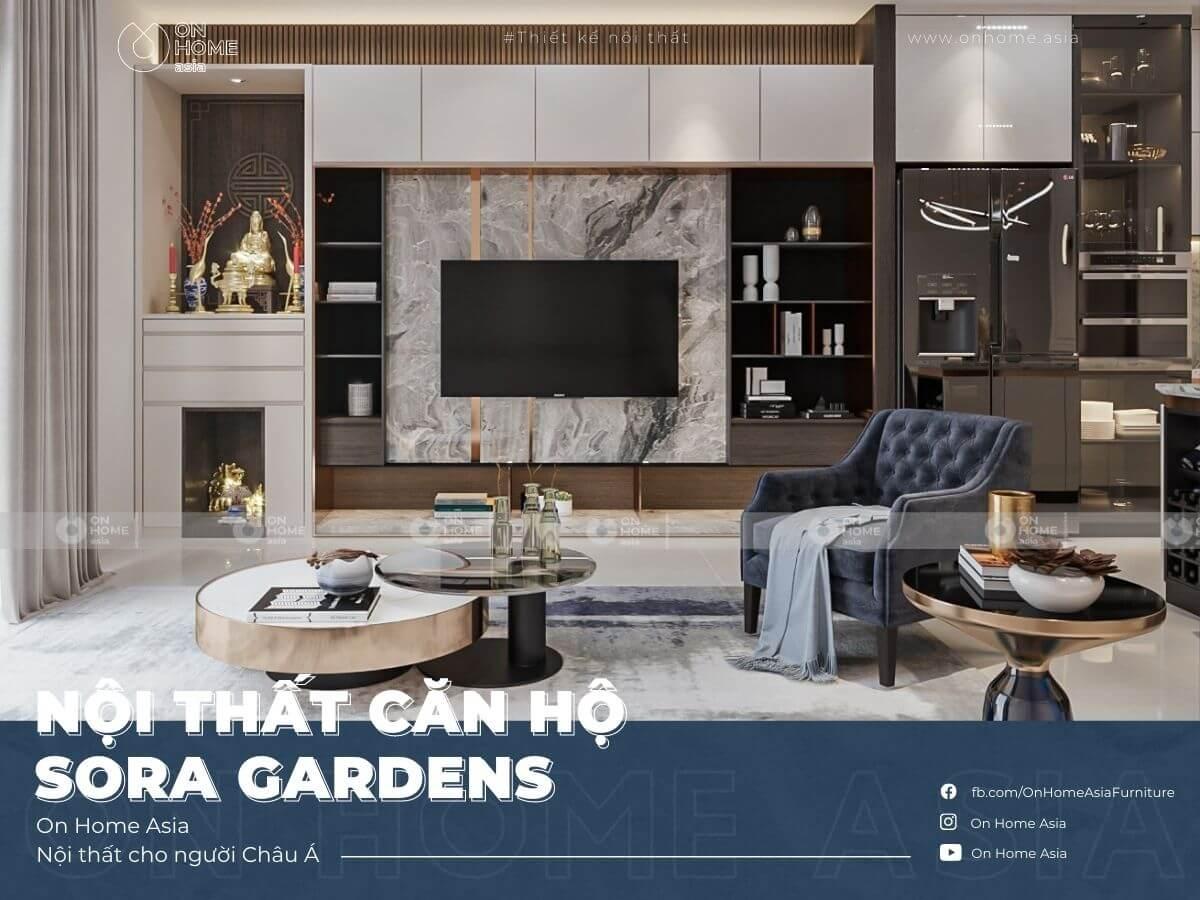 Sora gardens II apartment interior, sister Cam Tien