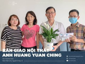 Handing over the interior of Mr. Huang's 2 bedroom apartment