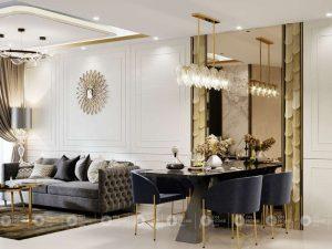 Compass One apartment interior - 2BRE