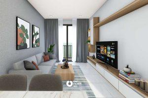 C Sky View's living room